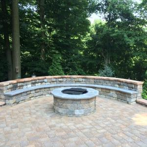 outdoor living features firepits