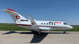AirMed International's Hawker 800XP is based in Birmingham, Ala.