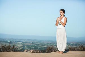 Bikram Yoga Standing Deep Breathing with Maggie Grove