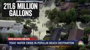 Massive 2019 sewer overflow in Florida.