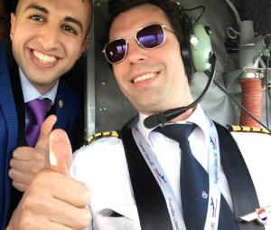 Hejar Abdi Taking A Selfie With Pilot