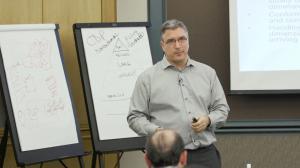 Joe Caserta delivering data and analytics workshop.