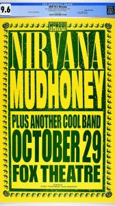 This Nirvana concert poster is now up for auction at www.ConcertPosterGallery.com