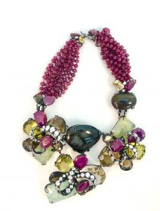 Iradj Moini multi-color stone necklace, signed Iradj Moini (est. $300-$500).