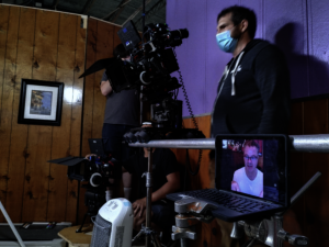 DP Chris Gosch and Director Phil Gorn filming a scene.