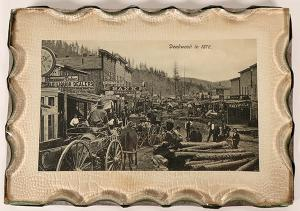 1876 photo of the Wild West town of Deadwood (S.D.), framed under glass (est. $800-$1,200).