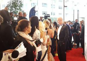 Steve Cederqust attends and walks the red carpet for the 27th Annual Night of 100 Stars Oscars Viewing Party.