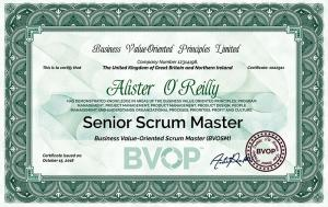 The BVOP Scrum Master Certificate