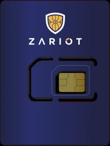 ZARIOT 3-in-1 eUICC IoT SIM card with logo