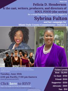 The cast, writers, producers, and directors of SOUL FOOD (the series) join host and series showrunner Felicia D. Henderson for the official 20th anniversary of the show's premiere with Zoom Event Open to Fans.   Organizers will use the platform as a fundr