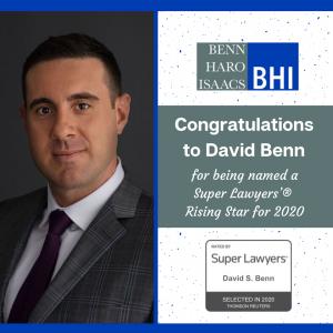 David Benn Super Lawyer Rising Star - Workers' Compensation Attorney