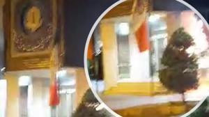 3-Rasht- Torching Khamenei's banner- June 2020