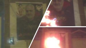Behbahan- Torching Qassem Soleimani, commander of the terrorist Quds force- June 2020