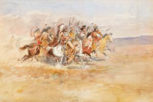 Charles M. Russell, Blackfeet War Party, circa 1896; Estimate: $200,000-300,000
