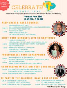 Jesse Lewis Choose Love Movement fundraiser schedule