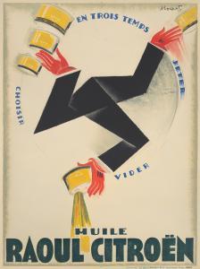 Charles Loupot, Huile Raoul Citroën. 1925. Est: $14,000-$17,000.