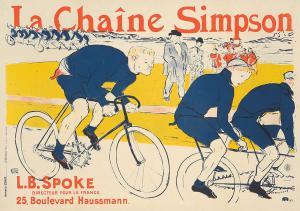 Henri de Toulouse-Lautrec, La Chaîne Simpson. 1896. Est: $70,000-$90,000.