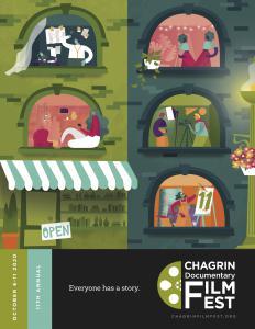 11th Annual Chagrin Documentary Film Festival program cover.