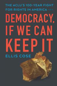 Striking book cover, Democracy: If We Can Keep It.