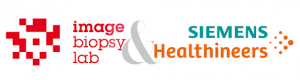 Logo of Siemens Healthineers and ImageBiopsy Lab displaying their commercial partnership