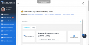 The New Leadsurance Client Success Dashboard