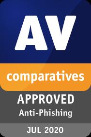 AV-Comparatives Anti-Phishing Certification 2020