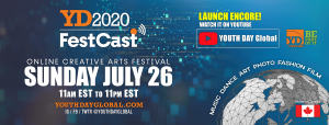JOIN us for the YD2020 FestCast from our youtube YOUTH DAY Global channel