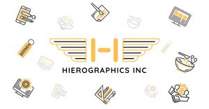 Hierographics logo with representations of different areas of specialty