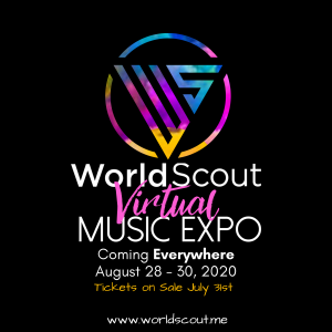 The WorldScout Virtual Music Expo occurs online August 28, 29 & 30, 2020.
