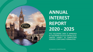 ELITE CAPITAL & CO. - Annual Interest Report 2020 - 2025