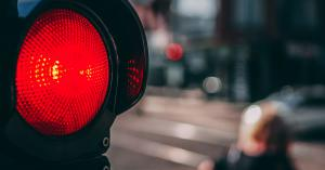 image of the red light of a traffic light