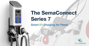 The SemaConnect Series 7 smart EV charging station for fleets