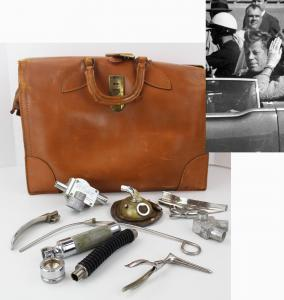 Original anesthetic instruments used by emergency room physician Dr. M.T. Pepper Jenkins, who attempted to resuscitate JFK in Dallas on November 22, 1963 (est. $5,000-$6,000).