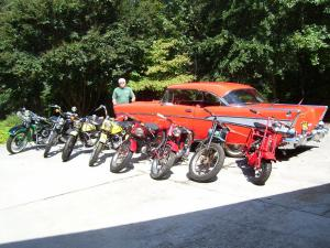 Items belonging to Preston Evans's longtime friend Buddy Austin, recently deceased, will be sold, to include his beloved 1957 Chevrolet Bel Air and a collection of vintage motorcycles.