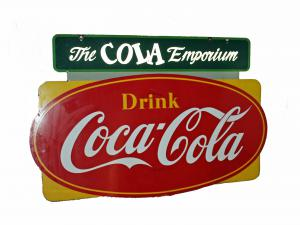 Coke collectibles, many of them early and in impeccable condition, will include rare and vintage coolers, posters, dispensers, clocks, vending machines, buttons, ice chests and even a bicycle.