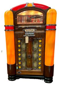 Jukeboxes – a category Mr. Evans knows a little something about, having collected them most of his life – will feature Wurlitzer models 1700, 1800, 2104, 1015, 800 (shown) and 1080.