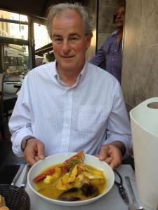 McGuire in Marseille, France exploring which restaurant has the best Bouillabaisse