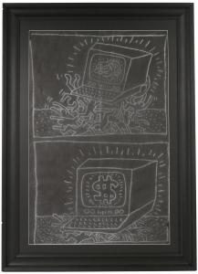 Keith Haring, Untitled, Chalk on Paper, Subway Drawing