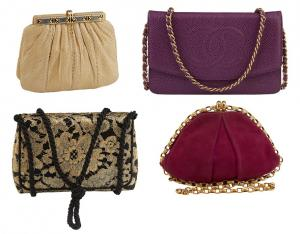 The selection of designer purses includes examples by names such as Chanel, Louis Vuitton, Gucci, Dior, Prada, Fendi, Celine and Hermes. Other couture items will also be offered.