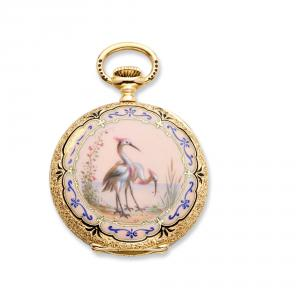 Unusual lady's 19th century Patek Philippe 18K gold pocket watch (est. $4,000-$6,000).