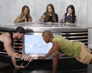 Vegan bodybuilders on set of New Day New Chef
