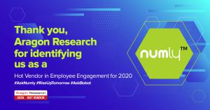Numly™ Named in Aragon Research Hot Vendor for Employee Engagement 2020