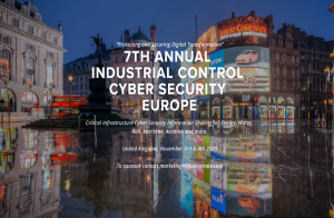 Industrial Control Cybersecurity Cyber Senate Europe Virtual Online Conference November 3/4 2020