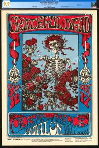 The Finest Certified 1966 FD-26 Grateful Dead Poster - CGC 9.9