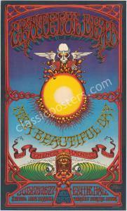 AOR 3.116 Signed 1969 Grateful Dead Hawaiian Aoxomoxoa poster