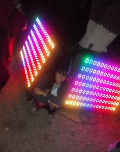 NED-driven LED panels at Apparitions 2019