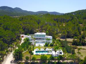 An aerial view of Villa Dulce in Ibiza, Spain.