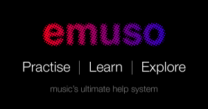 emuso, logo with short 3 word description and tag line