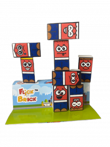 Flick Brick with packaging