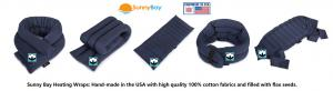 Sunny Bay Cotton Heating Wraps, pain relief, heating pad, moist heat, hot and cold compress